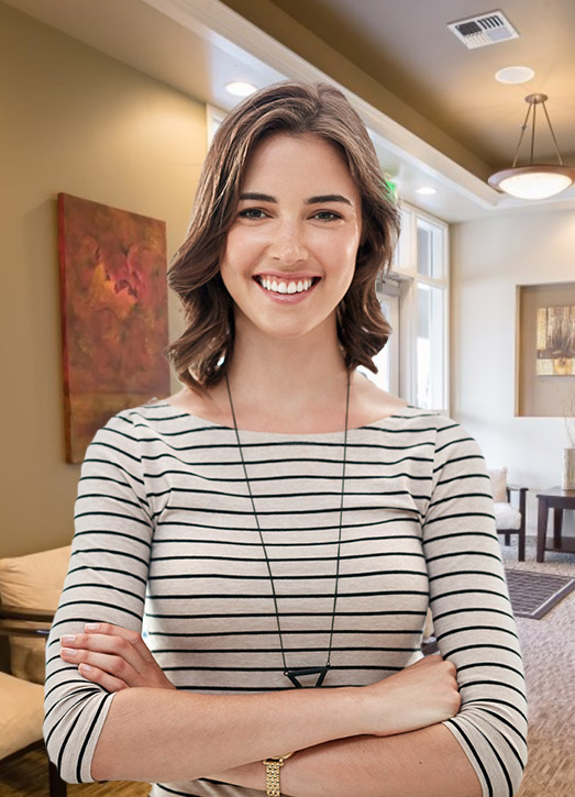Young woman with healthy happy smile